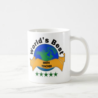 World's Best Math Teacher Basic White Mug