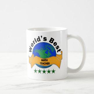 World's Best Math Teacher Basic White Mug