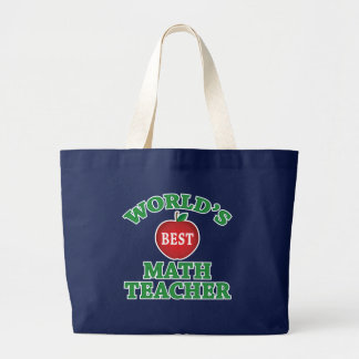 World's Best Math Teacher Large Tote Bag