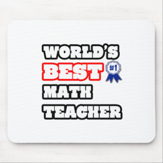 World's Best Math Teacher Mouse Mat
