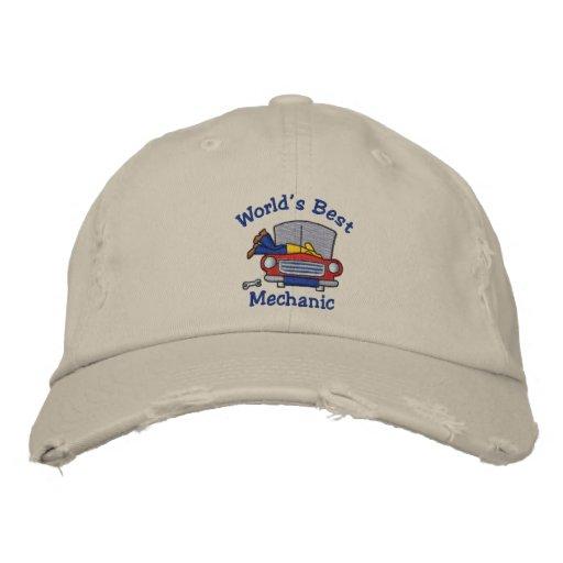 World's Best Mechanic Customizable Hats Embroidered Baseball Cap