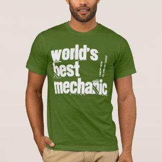World's Best Mechanic Olive and White V202 T-Shirt