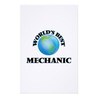 World's Best Mechanic Stationery Design