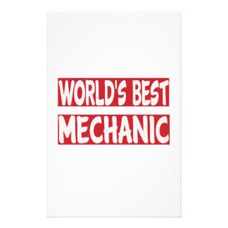 World's Best Mechanic. Customized Stationery