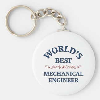 World's best Mechanical Engineer Basic Round Button Key Ring