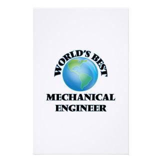 World's Best Mechanical Engineer Stationery Design
