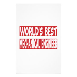 World's Best Mechanical engineer. Personalized Stationery