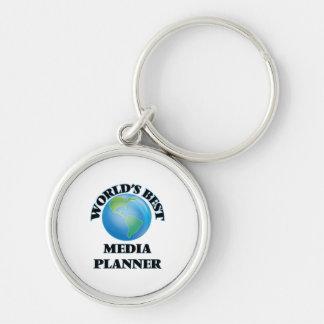 World's Best Media Planner Keychains