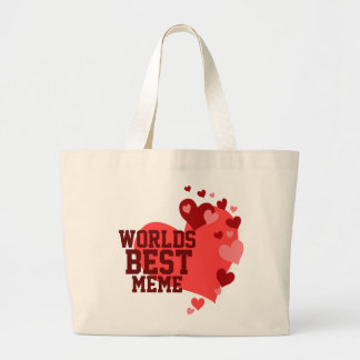 Worlds Best MeMe Personalized Jumbo Tote Bag