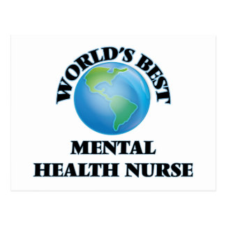 World's Best Mental Health Nurse Postcard