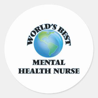 World's Best Mental Health Nurse Round Stickers