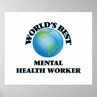 World's Best Mental Health Worker Print