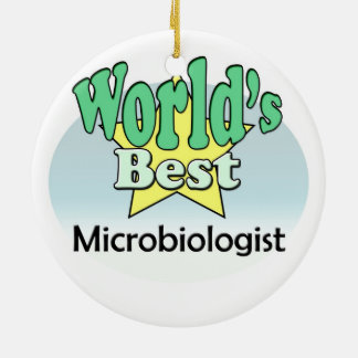 World's best Microbiologist Christmas Ornament