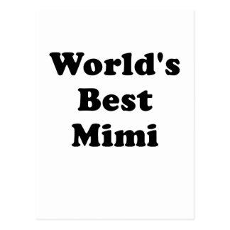Worlds Best Mimi Postcard