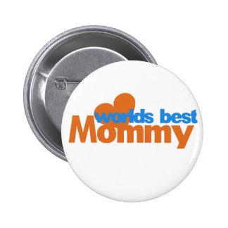 Worlds Best Mom 6 Cm Round Badge