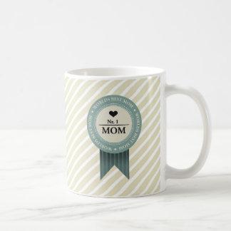 WORLDS BEST MOM BADGE COFFEE MUG