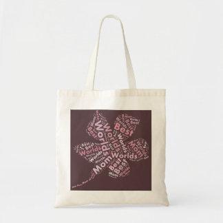 World's Best Mom Bag Brown Pink Floral
