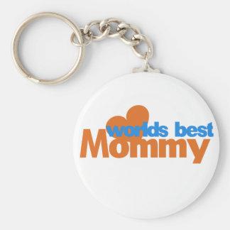Worlds Best Mom Basic Round Button Key Ring