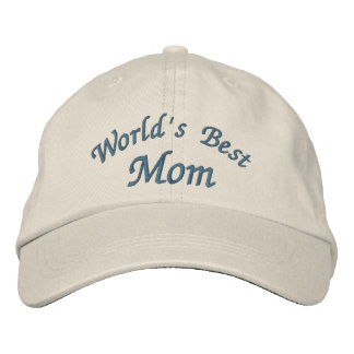 World's Best Mom Cute Embroidered Hat