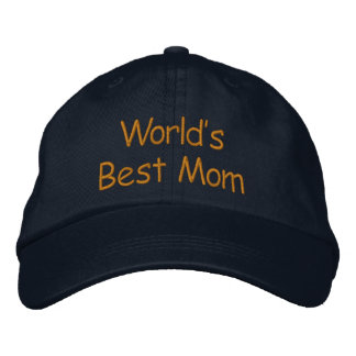 World's Best Mom Embroidered Baseball Cap