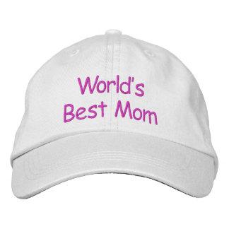 World's Best Mom - Embroidered Baseball Cap