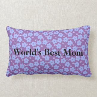 Worlds Best Mom Flower Power Lumbar Pillow