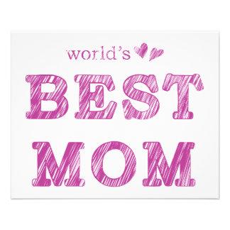 World's Best Mom Flyer Design