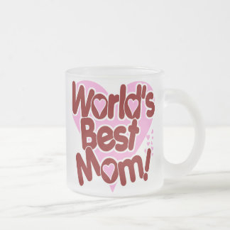 Worlds Best Mom Frosted Glass Coffee Mug
