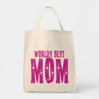 Worlds best MOM Grocery Tote Bag