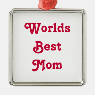 Worlds Best Mom Medal hanging ornament