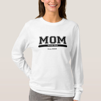 Worlds Best Mom Mothers Day Shirt (Customizable)
