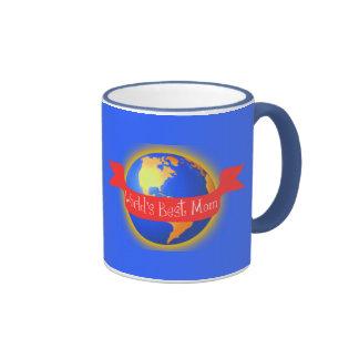 World's Best Mom Mug, Bright Colors Globe