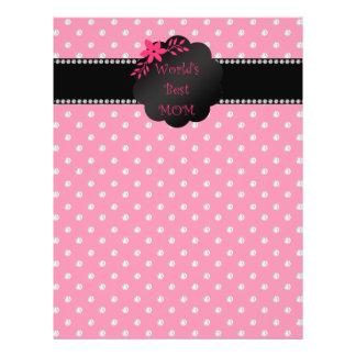 World's best mom pink diamonds flyer design