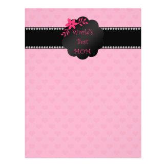 World's best mom pink hearts 21.5 cm x 28 cm flyer