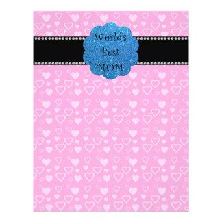 World's best mom pink hearts flyer design