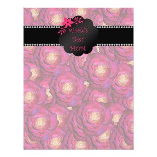 World's best mom pink roses 21.5 cm x 28 cm flyer