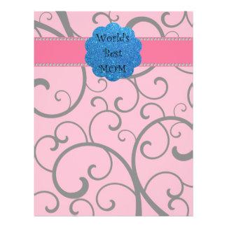 World's best mom pink swirls flyer design