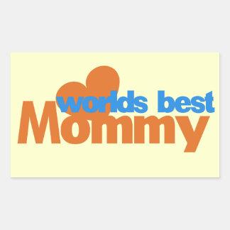 Worlds Best Mom Rectangular Sticker