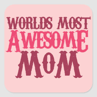 Worlds Best Mom Square Stickers
