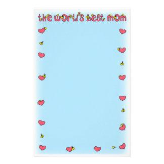 world's best mom stationery