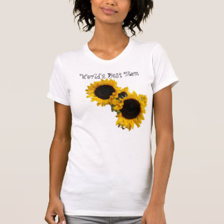 World's Best Mom Sunflowers Shirt