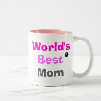 World's Best Mom Two-Tone Mug