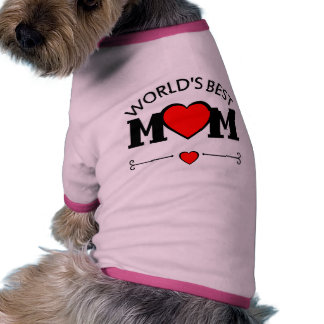 World's Best Mom with Hearts Pet Shirt