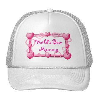 """""""World's Best Mommy"""" Heart Frame Hat"""