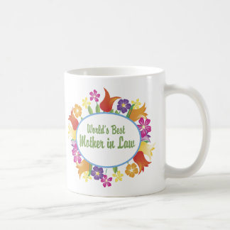 World's Best Mother in Law Tees and Gifts Basic White Mug