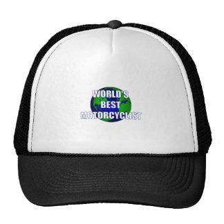World's Best Motorcyclist Trucker Hats
