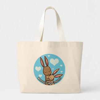Worlds best Moum Bunny Canvas Bags