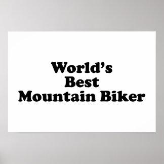 World's Best Mountain Biker Poster