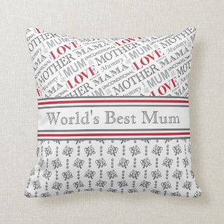 World's Best Mum British Mother's Day Gift Cushion