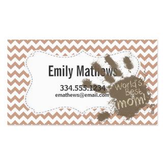 World's Best Mum; Brown Chevron Pack Of Standard Business Cards